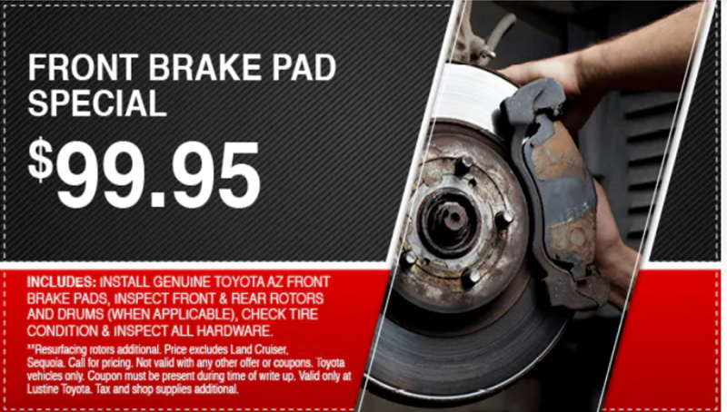 Lustine Toyota Front Brake Pad Special